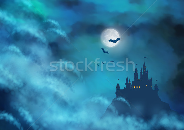 Halloween Vector Nightly Background Stock photo © kostins
