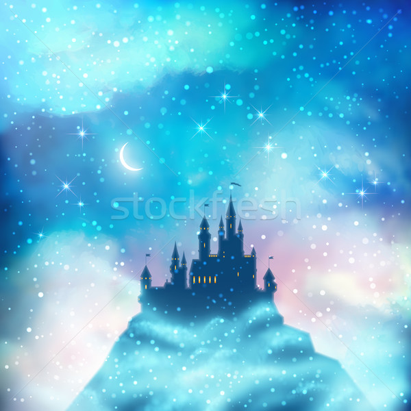 Christmas Winter Castle Stock photo © kostins