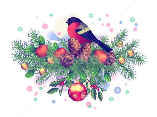 Joyeux Noël Couleur Pour Aquarelle Dessin