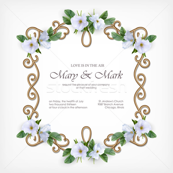 Wedding Decorative Frame Stock photo © kostins