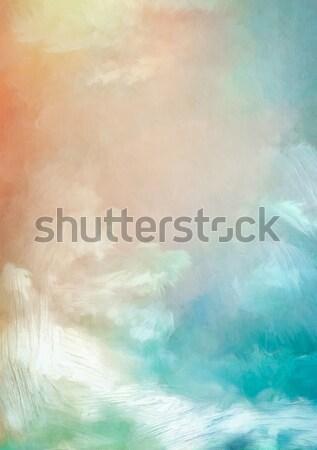 Сток-фото: небе · Живопись · Восход · цифровой · аннотация · акварель