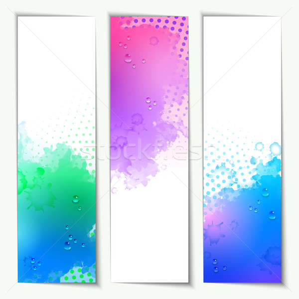 Abstract Vector Watercolor Headers Stock photo © kostins