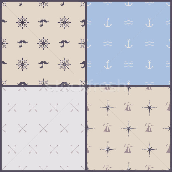 Vector marinos símbolo establecer Foto stock © kostins
