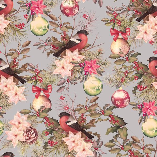 Christmas retro seamless pattern Stock photo © kostins