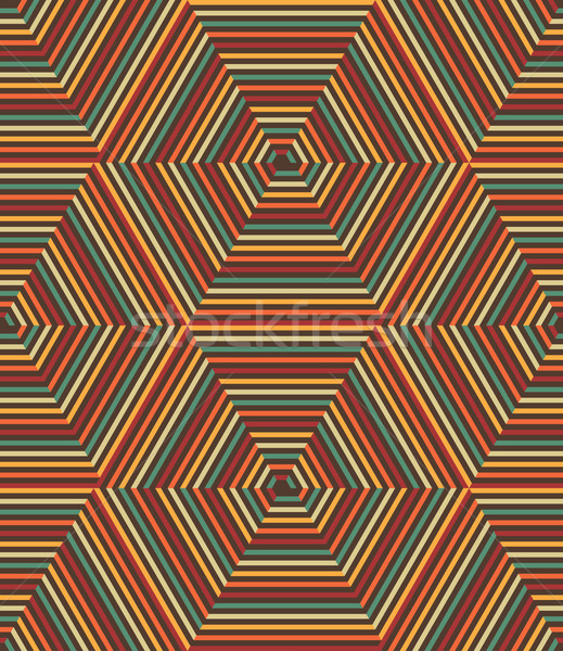 Vector Seamless Geometric Retro Pattern Stock photo © kostins