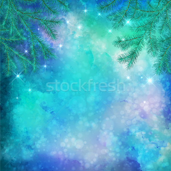 Christmas Winter Background Stock photo © kostins
