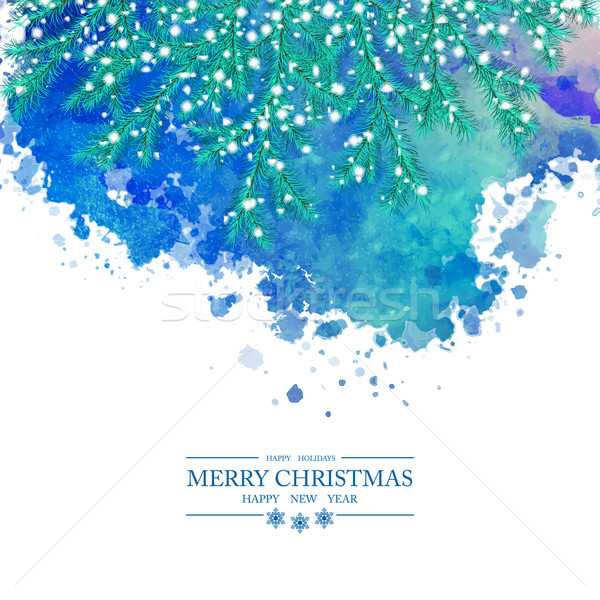 Christmas Watercolor Vector Background Stock photo © kostins