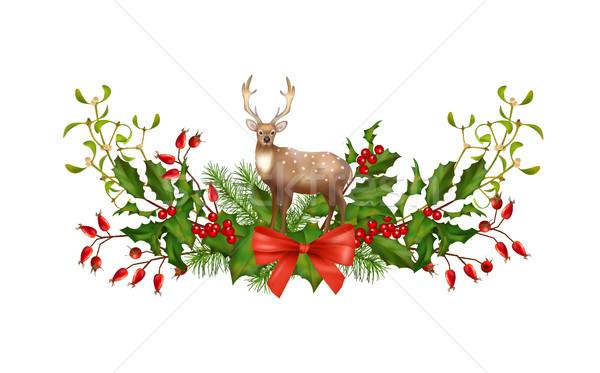 Christmas Garland Vector Stock photo © kostins