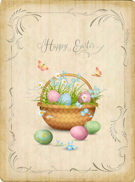 Stock photo: Retro Easter Card