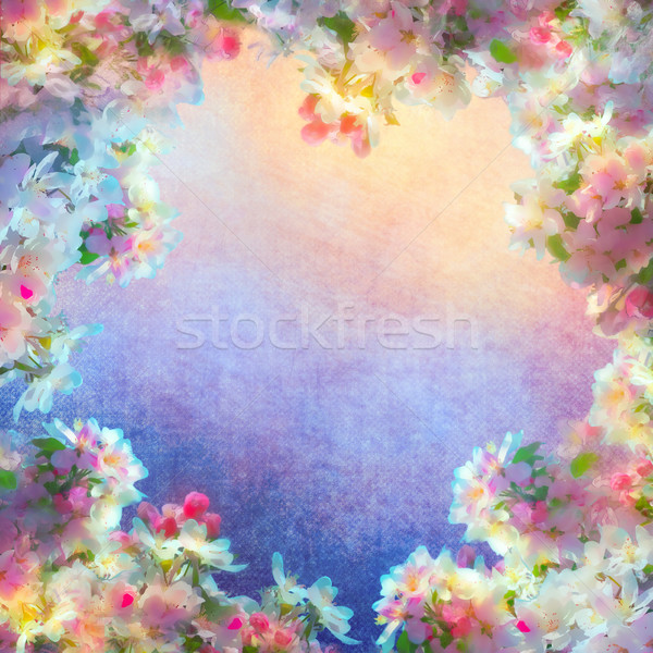Spring Cherry Blossom Painting Stock photo © kostins