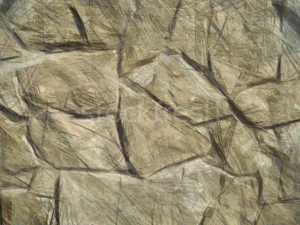 メーソンリー 石の壁 図面 鉛筆 パステル 絵画 ストックフォト © kostins