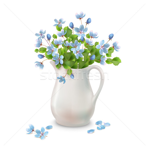 Spring Flowers in Jug Stock photo © kostins