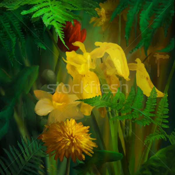 Foto stock: Aquarela · pintura · flores · pintar · floral · digital