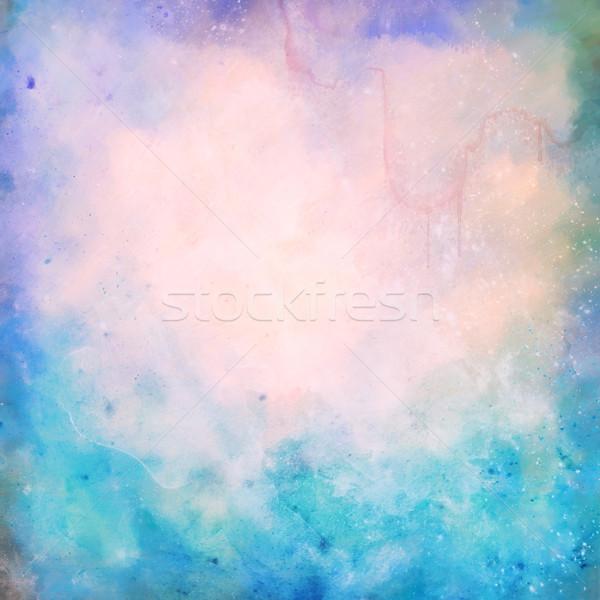 Artistico pittura grunge acquerello texture grafica Foto d'archivio © kostins