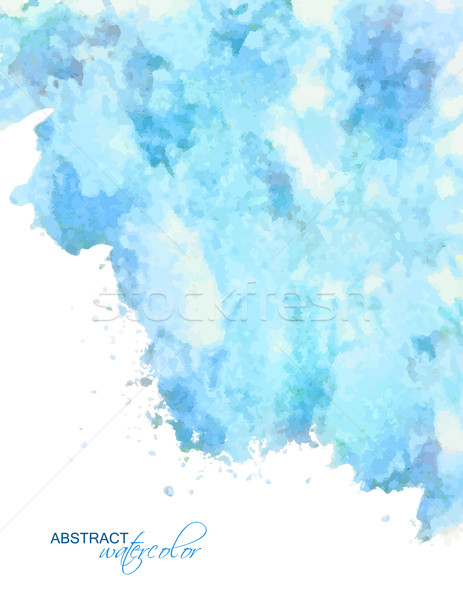 Vector abstract blue watercolor background Stock photo © kostins