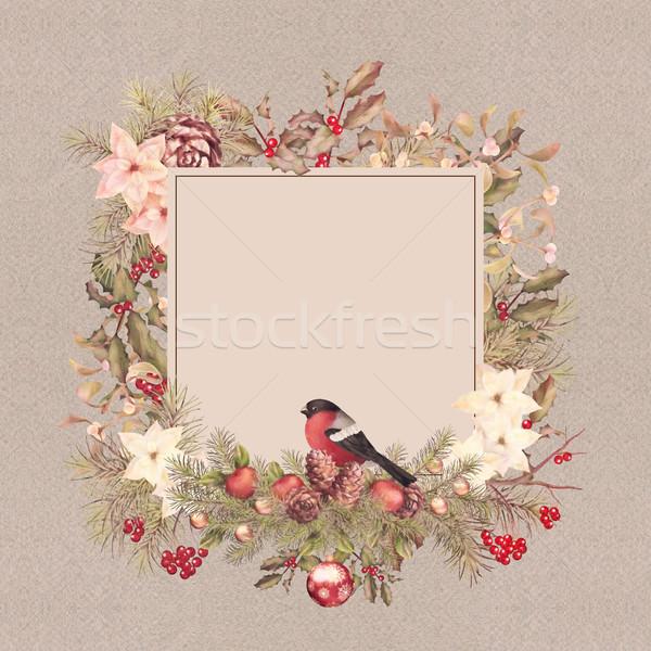 Christmas Vintage Frame Stock photo © kostins