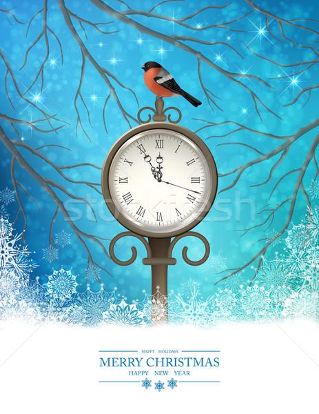 Vector Winter Christmas Scene Background Stock photo © kostins