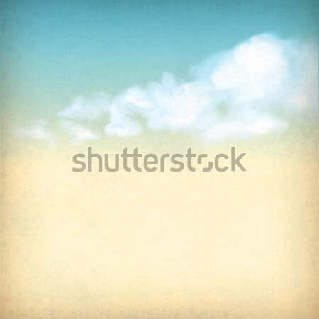 Vintage sky clouds old paper textured background Stock photo © kostins