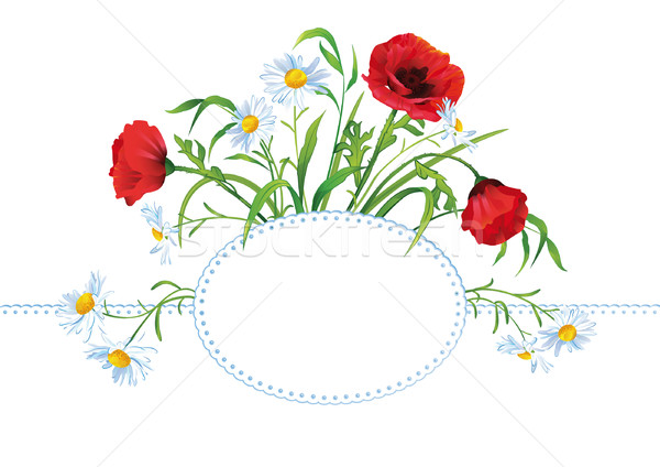 Greeting card with colorful flower bouquet Stock photo © kostins