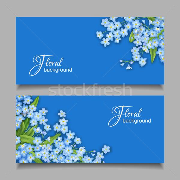 Vector Vintage Floral Banner Stock photo © kostins