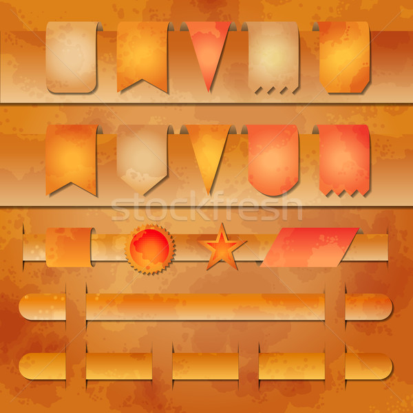 Vector set of banners and label tags for web Stock photo © kostins