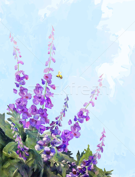Flowers Oil Digital Painting Stock photo © kostins