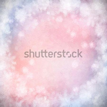 Karácsony absztrakt festmény karácsony tél művészet Stock fotó © kostins
