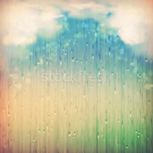 Colorful rain Stock photo © kostins