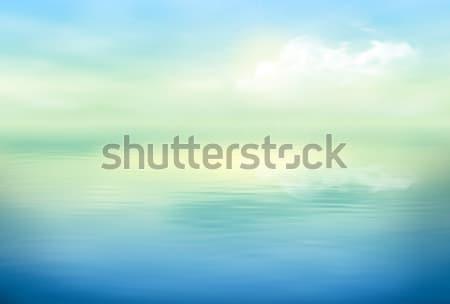 Stockfoto: Water · vector · zee · landschap · textuur