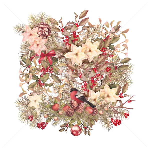 Christmas Vintage Background Stock photo © kostins