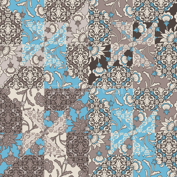 Vecteur couette résumé patchwork Photo stock © kostins