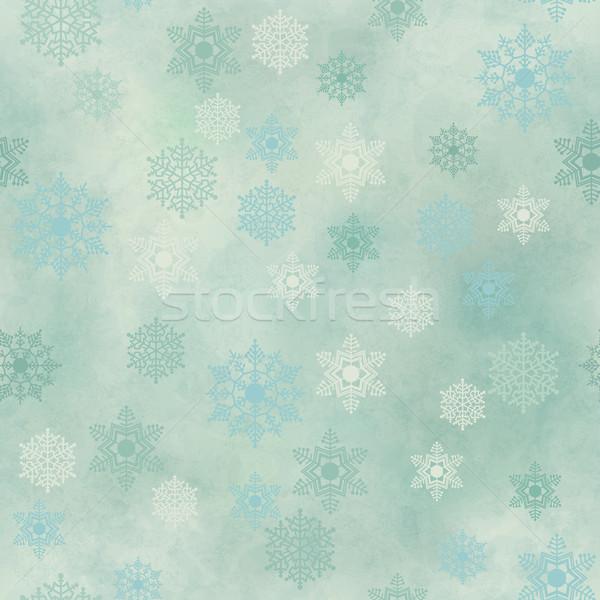 Csomagolás klasszikus papír hópehely végtelen minta karácsony Stock fotó © kostins