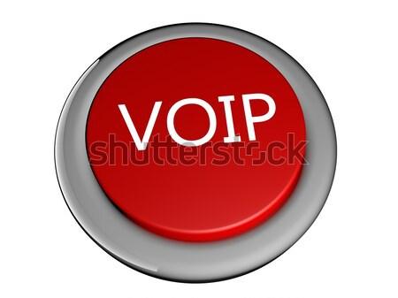 Voip czerwony przycisk tekst 3d działalności Zdjęcia stock © Koufax73