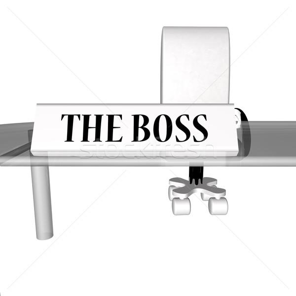 The Boss desk Stock photo © Koufax73