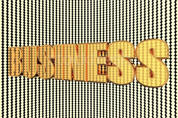 üzlet szó arany megvilágított 3d render pénz Stock fotó © Koufax73