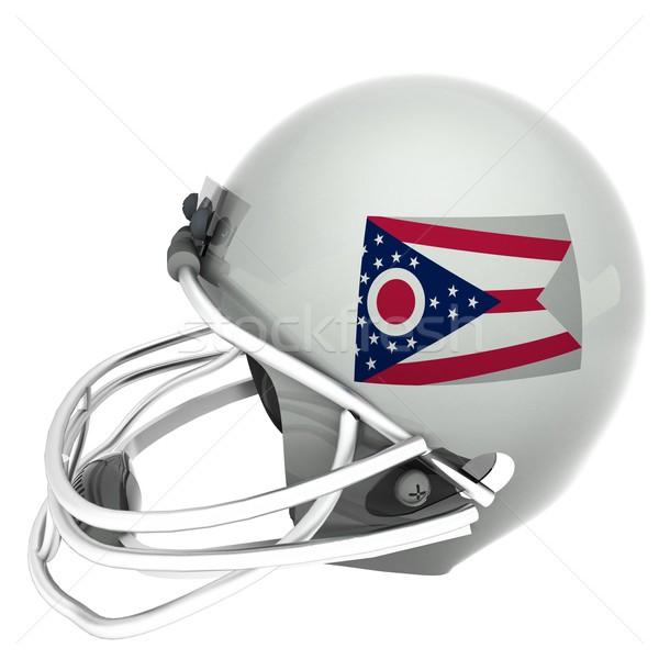 オハイオ州 サッカー フラグ ヘルメット 3dのレンダリング 広場 ストックフォト © Koufax73