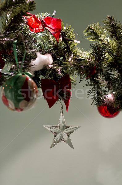 Star cam kadar Noel dekorasyon arka plan Stok fotoğraf © Koufax73