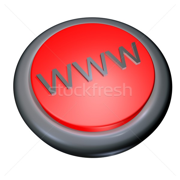 WWWを ボタン 孤立した 白 3dのレンダリング コンピュータ ストックフォト © Koufax73