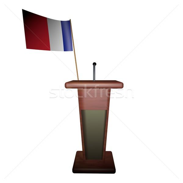 Podium and France flag Stock photo © Koufax73