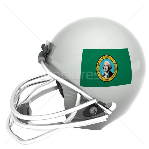 Washington futball zászló sisak 3d render tér Stock fotó © Koufax73
