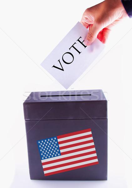 Urne vote Homme main femme ville Photo stock © Koufax73