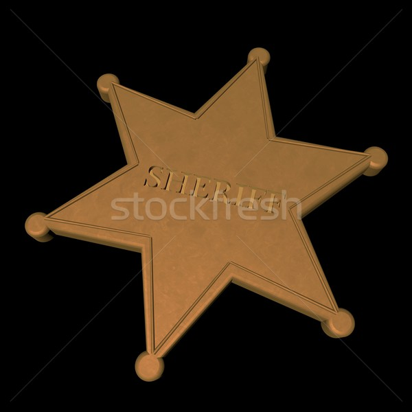 Sheriff star Stock photo © Koufax73