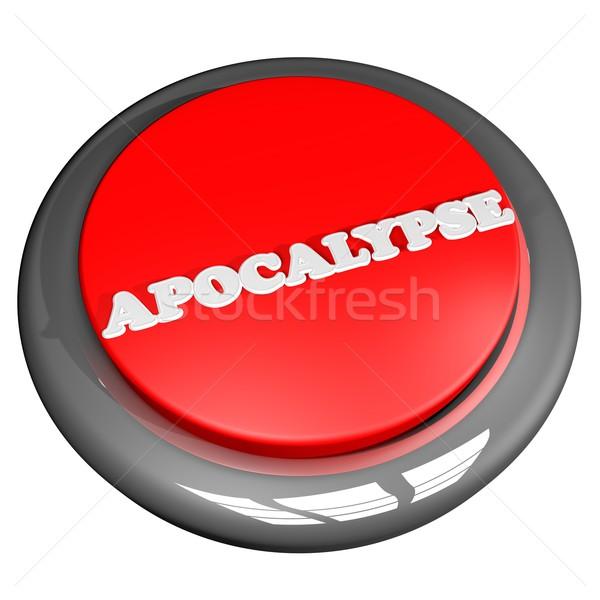 Apokalipszis gomb izolált fehér 3d render terv Stock fotó © Koufax73