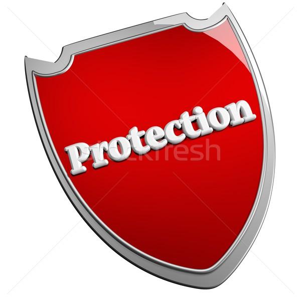 Védelem pajzs izolált fehér 3d render terv Stock fotó © Koufax73