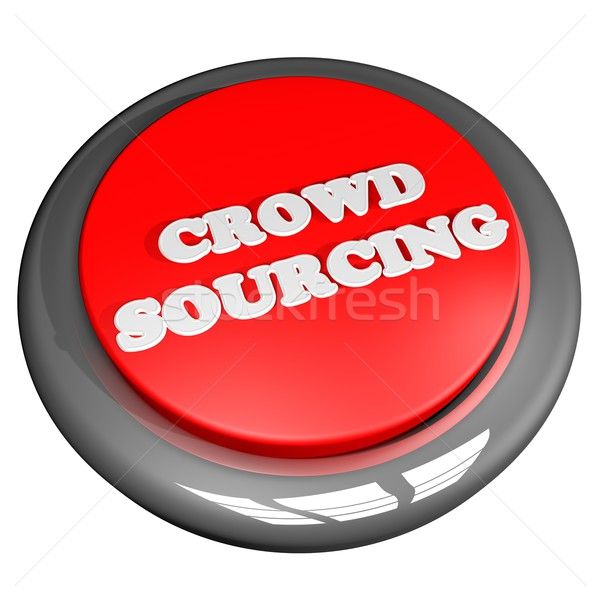толпа кнопки изолированный белый 3d визуализации квадратный Сток-фото © Koufax73
