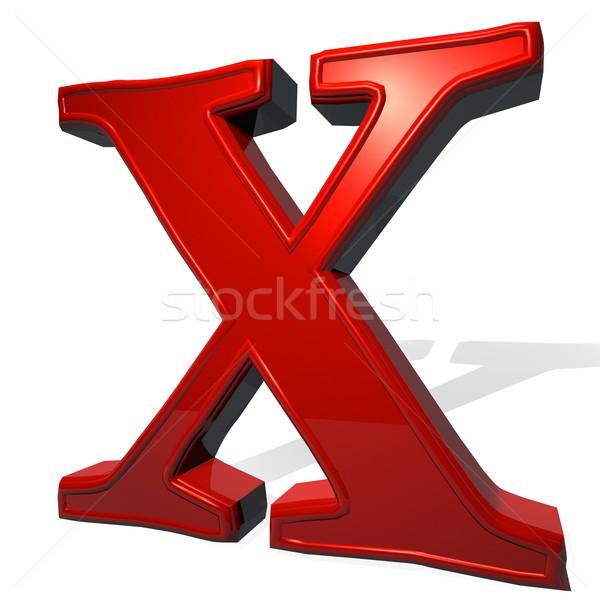 письме красный белый тень 3d визуализации дизайна Сток-фото © Koufax73