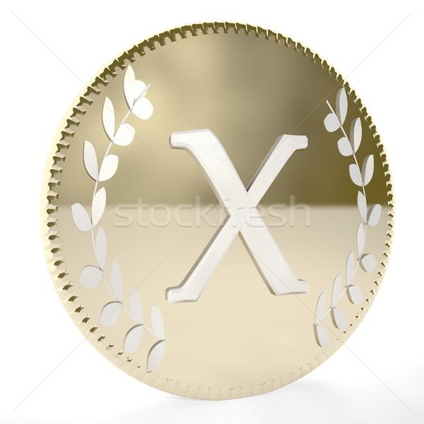 コイン 手紙 月桂樹 葉 白 ストックフォト © Koufax73