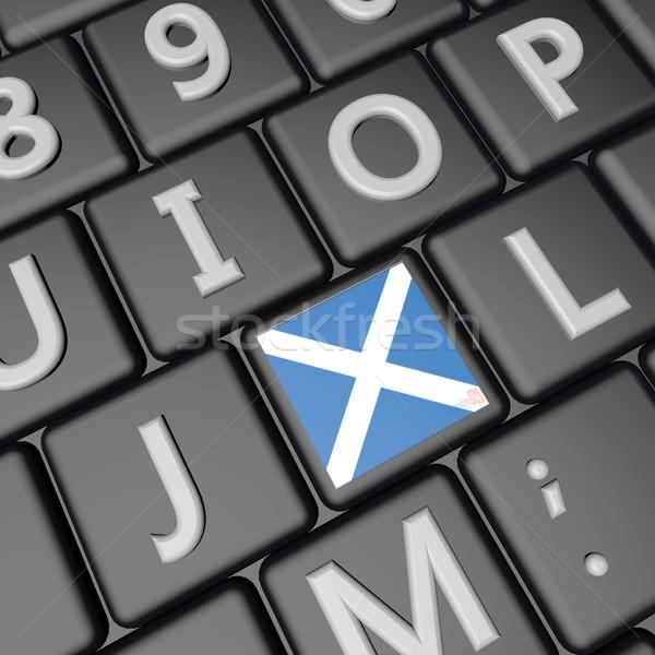 Escocia clave bandera teclado 3d cuadrados Foto stock © Koufax73