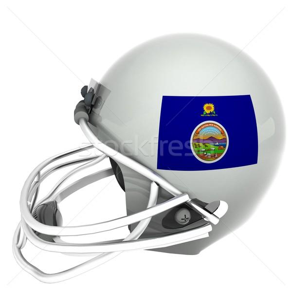 Kansas football pavillon casque rendu 3d carré Photo stock © Koufax73