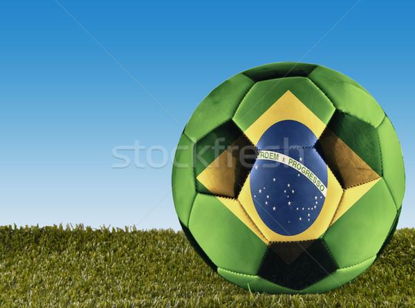ストックフォト: サッカー · 草 · 装飾された · サッカー · スポーツ · 背景